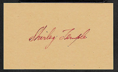 Shirley Temple Autograph Reprint On Genuine Original Period 1930s 3x5 Card