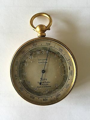 Antique Short Mason London Tycos Pocket Barometer