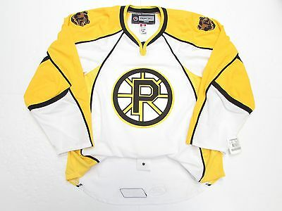 431b0882284 Providence Bruins Authentic Ahl Reebok Edge 2.0 7287 White Hockey Jersey  Size 56