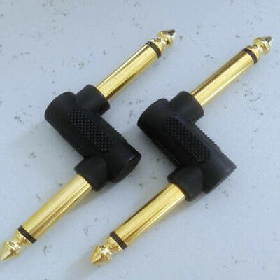 "2pcs New 1/4"" OFFSET Z Shape JACK-JACK Guitar Plug Adapter EFFECT PEDAL,1361"