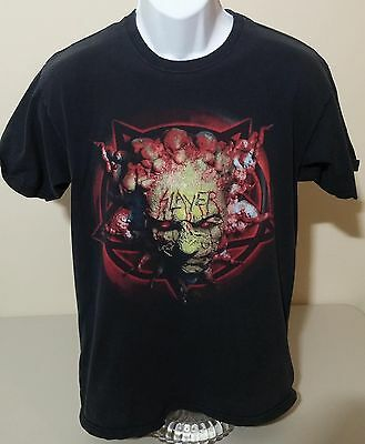Slayer Vintage VTG 90s Black 2 Sided Graphic T Shirt Mens M