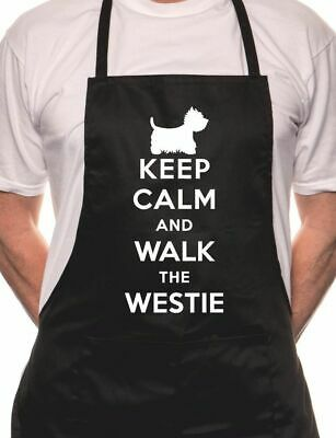 Keep Calm Walk The Westie Dog Lover BBQ Cooking Novelty Apron