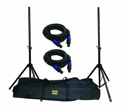 New PYLE PMDK-101 Pro Speaker Stand And Cable Kit