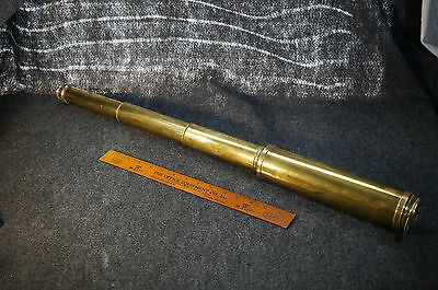 "Antique 19th Century Osborne Day or Night London Brass Telescope 32"" Long"