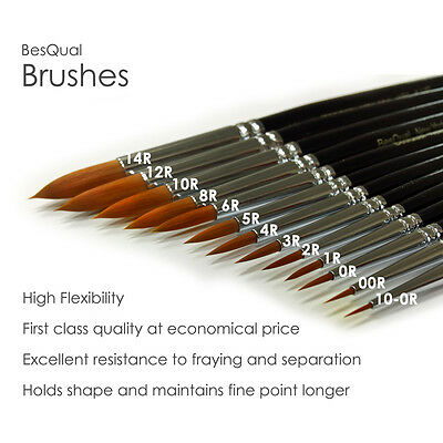 Natural Brushes For Dental Lab Porcelain Ceramist - FREE SHIP