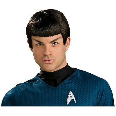 Spock Wig Adult Mens Star Trek Costume Vulcan Fancy Dress Peluca
