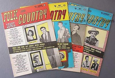 Original Lot Of Four Folk & Country Songs Roundup Magazines 1956-1957 ELVIS