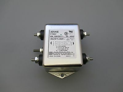 Corcom Power Line Filter  20VK6