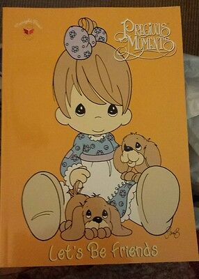 Vtg 1999 Precious Moments Coloring Book by Golden Books  Let's Be Friends unused