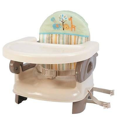 Summer Infant Baby Booster Seat Deluxe 2 Level 3 Position Removable Tray Cushion