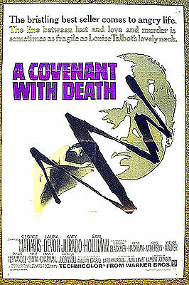 """a best selling thriller comes to life --- """"A COVENANT WITH DEATH"""" / 1967 poster"""