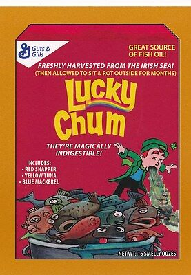 #7 LUCKY CHUM 2017 Wacky Packages 50th Anniversary CEREAL LUCKY CHARMS BRONZE