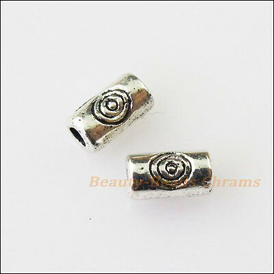 Beads & Jewelry Making 40pcs Antiqued Silver Tone Flower Tube Spacer Beads Charms 14.5mm