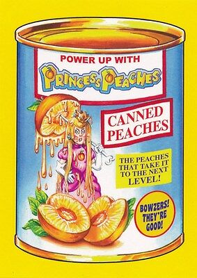 #2 PRINCESS PEACHES 2017 Wacky Packages 50th Anniversary VIDEO PEACH YELLOW