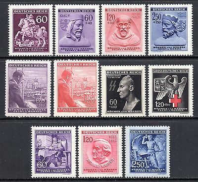 GERMANY WWII BOHEMIA & MORAVIA 1943 Issues Complete MINT NH - 3 SCANS MNH