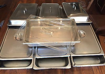 12 Piece Restaurant Commercial Stainless Steel Steam Table Deep Pans & Lids
