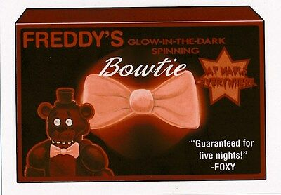 #2 FREDDY'S BOWTIE 2017 Wacky Packages 50th Anniversary APP FIVE NIGHT AT SEPIA