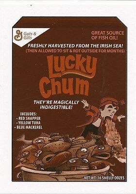 #7 LUCKY CHUM 2017 Wacky Packages 50th Anniversary CEREAL LUCKY CHARMS SEPIA