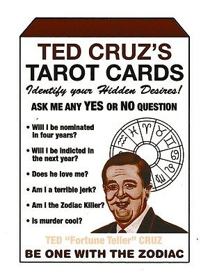 #8 TED CRUZ'S TAROT CARDS 2017 Wacky Packages 50th Anniversary POLITICS SEPIA