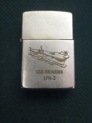 Vintage USS Okinawa LPH-3  US Aircraft Carrier Zippo Windproof Lighter