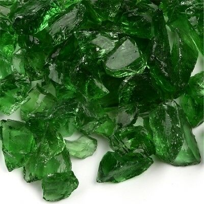 Green Fireplace Pit Glass