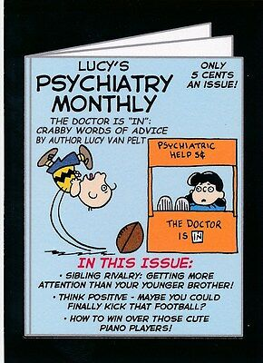 #4 LUCY'S PSYCH MONTHLY 2017 Wacky Packages 50th Anniversary POP CULTURE PEANUTS