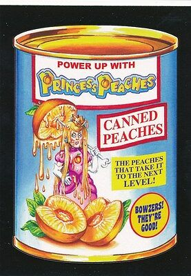 #2 PRINCESS PEACHES 2017 Wacky Packages 50th Anniversary VIDEO GAMES PEACH