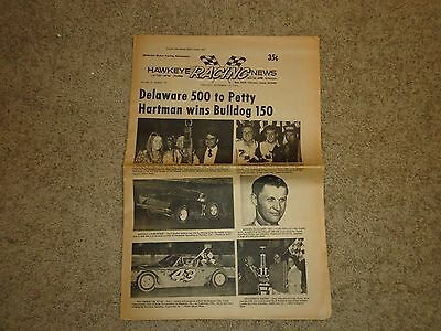 Vinton, Iowa Hawkeye Racing News 1974 Butch Hartman Dick Sutcliffe Earl Hubert