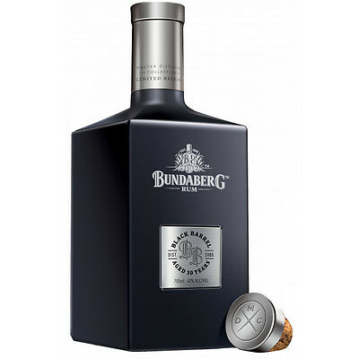 New: Bundaberg Rum Master Distillers Collection Black Barrel Black Bottle 700ml