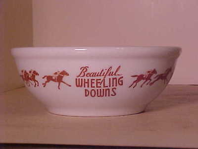 Vintage Wheeling Downs Horse Racing Track Bowl Shenango China