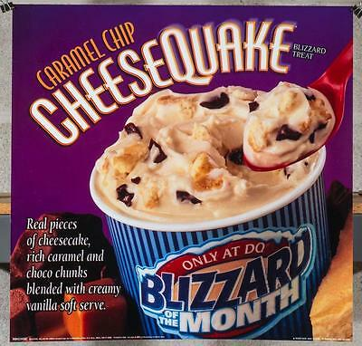 Dairy Queen Promotional Poster For Backlit Menu Sign Caramel Cheesequake dq2