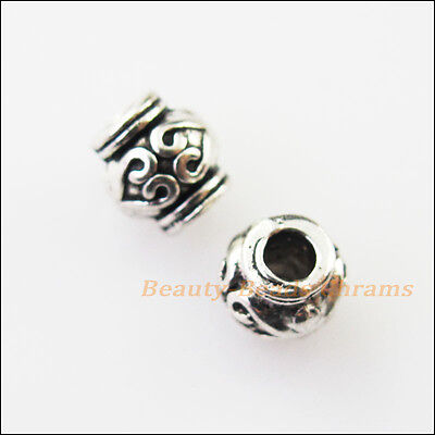 18Pcs Antiqued Silver Tone Tiny Wings Spacer Beads Charms 10x19mm