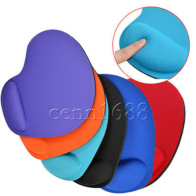 Anti Slip Gel Mouse Mat Pad With Rest Wrist Comfort Support Laptop PC