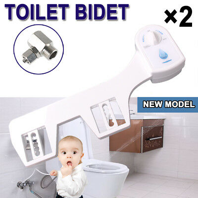 2X Premium Quality Bathroom Nature Water Wash Clean Unisex Healthy Toilet Bidet