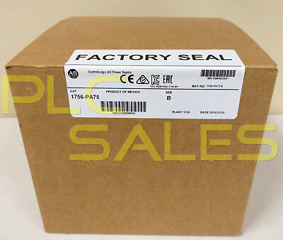 Allen Bradley 1756-PA75 /B  |  ControlLogix Power Supply - Mfg 2015  *NIBFS*