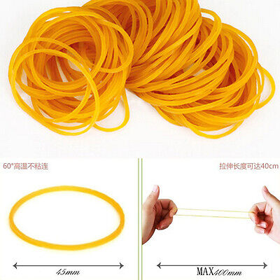 New 100pcs/pack Rubber Bands 45mm Rubber Rings Office Home School Supplies