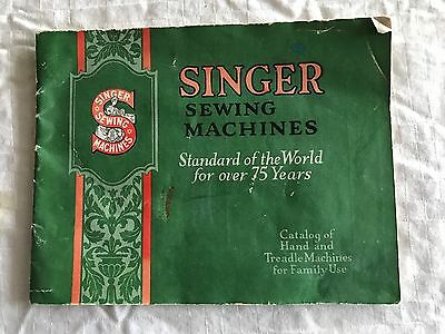 1923 1926 Singer Sewing Machines Catalog of Hand and Treadle Machines Family Use