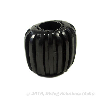 Scuba Diving Dive Tank Cylinder Valve Knob -Oval Design for Better Grip, Black