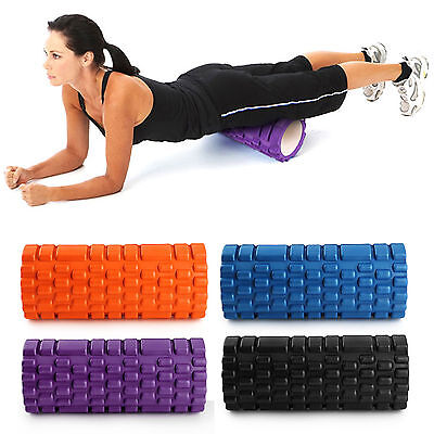 Grid Foam Roller Trigger Point Gym Sports Massage Physio Injury Yoga Roller