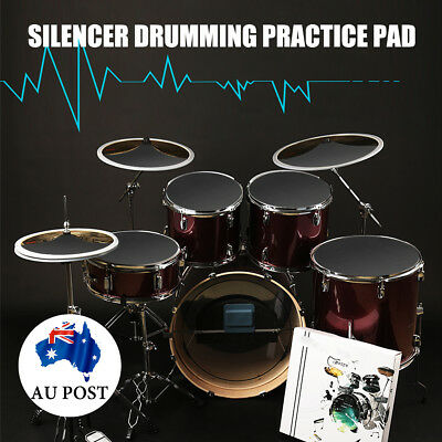 10x Bass Snare Drums Sound off Quiet Mute Silencer Drumming Rubber Practice Pad