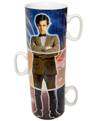 Doctor Who 10th And 11th Doctor Stacked Mug Set One Size