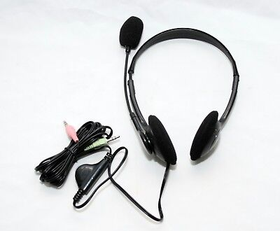 Computer PC Laptop Multimedia Headphone Headset with Microphone Mic UK