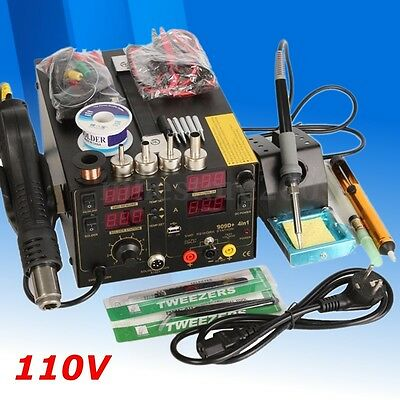 4 In1 Rework Soldering Station Hot Heat Air Gun USB Power Supply 110V 800W 909D+