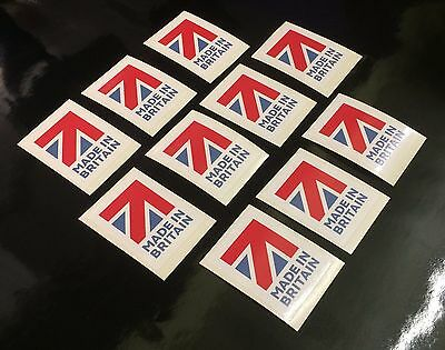 10 made in Great Britain flag Stickers self adhesive vinyl Labels decals 30 x 20