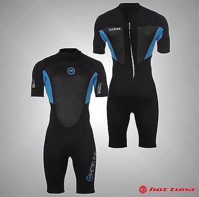Mens Branded Hot Tuna Short Sleeves Pro Shorty Wetsuit Water Sports Size S-XXL