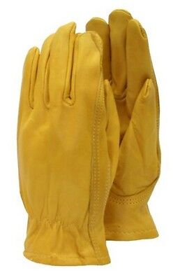 Briers B6532 Golden Leather Garden Work Gloves - Medium #22R417