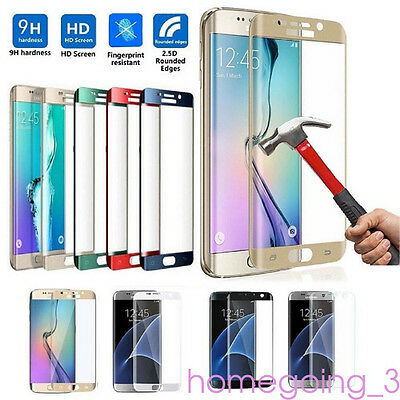 Full Cover Tempered Glass Screen Protector For Samsung Galaxy S7 Edge/S8+ Safety