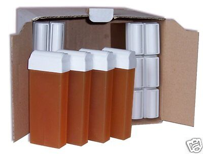 LOT DE 24 RECHARGES CIRE A EPILER TIEDE 100ml EPILATION PROFESSIONNELLE ROLL ON