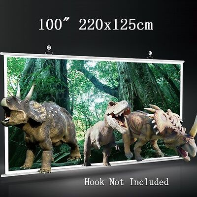 100'' 16:9 Portable Home Projector Screen Movie Cinema Theater HD TV Projection