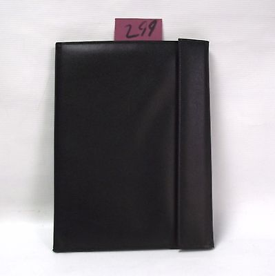 Black  PU A4 tri fold Conference Folder style 299